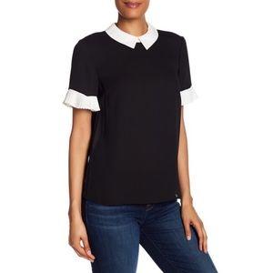New [CeCe] Peter Pan collar blouse M